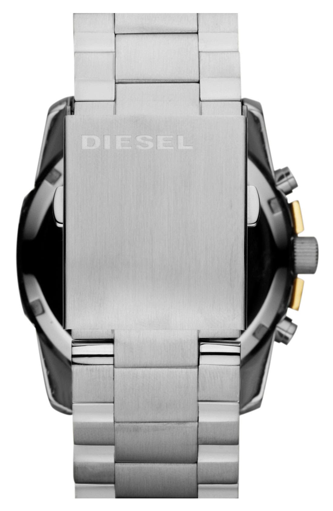 Alternate Image 3  - DIESEL® 'Master Chief' Chronograph Bracelet Watch, 45mm