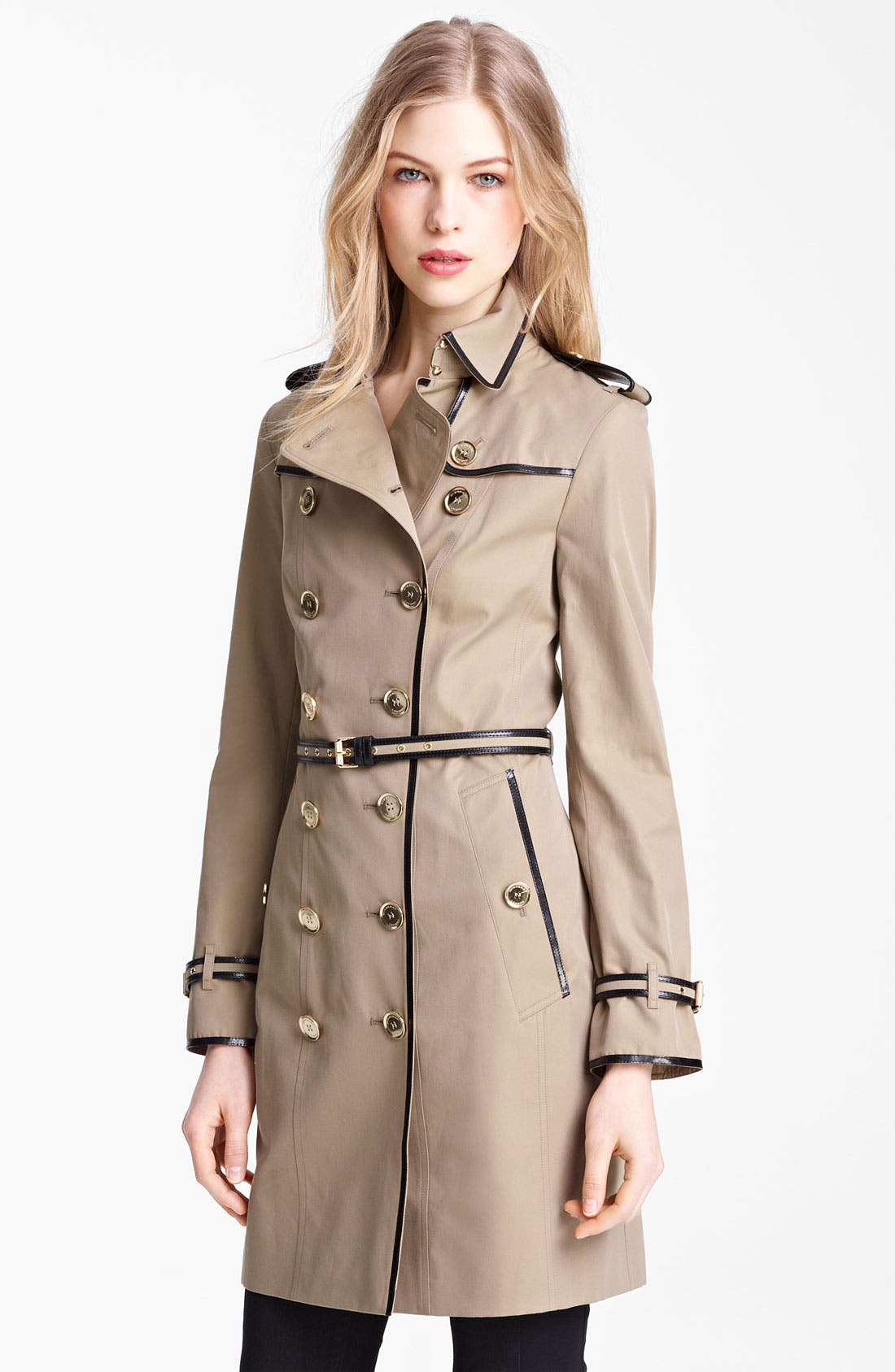 Alternate Image 1 Selected - Burberry London Belted Gabardine Trench Coat