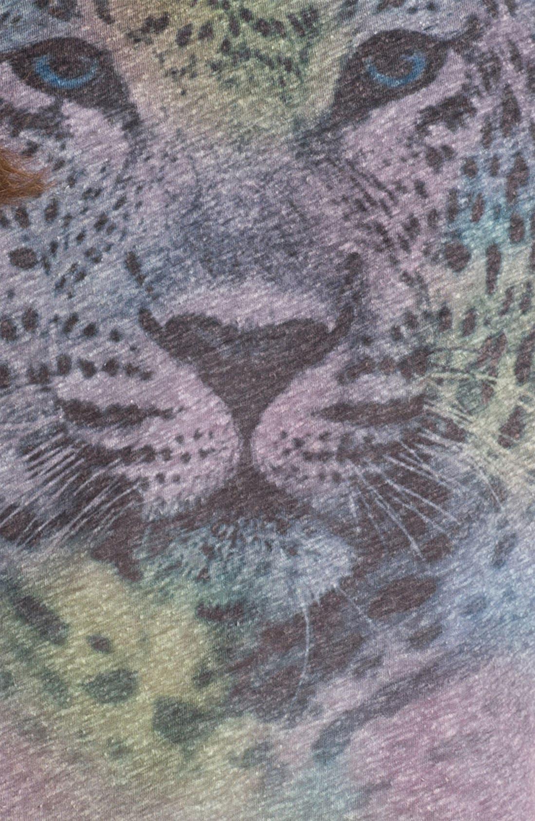 Alternate Image 3  - Lush Studded Cheetah Graphic Muscle Tee (Juniors)