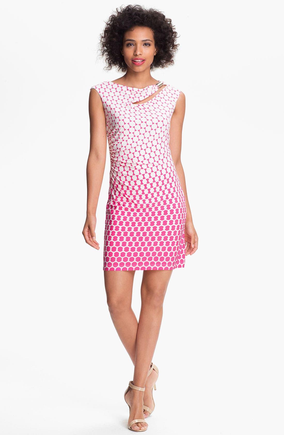 Alternate Image 1 Selected - Donna Morgan 'Maddison' Embellished Print Sheath Dress
