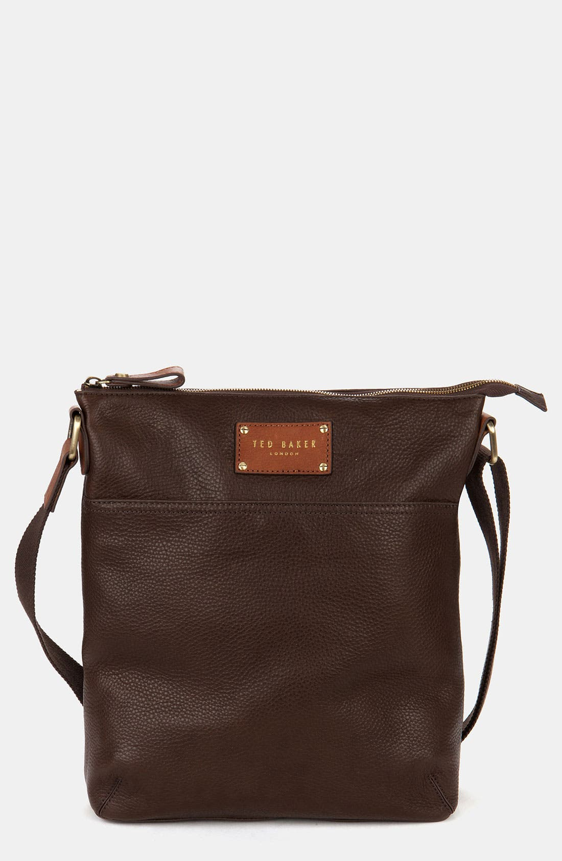 Main Image - Ted Baker London Leather Flight Bag