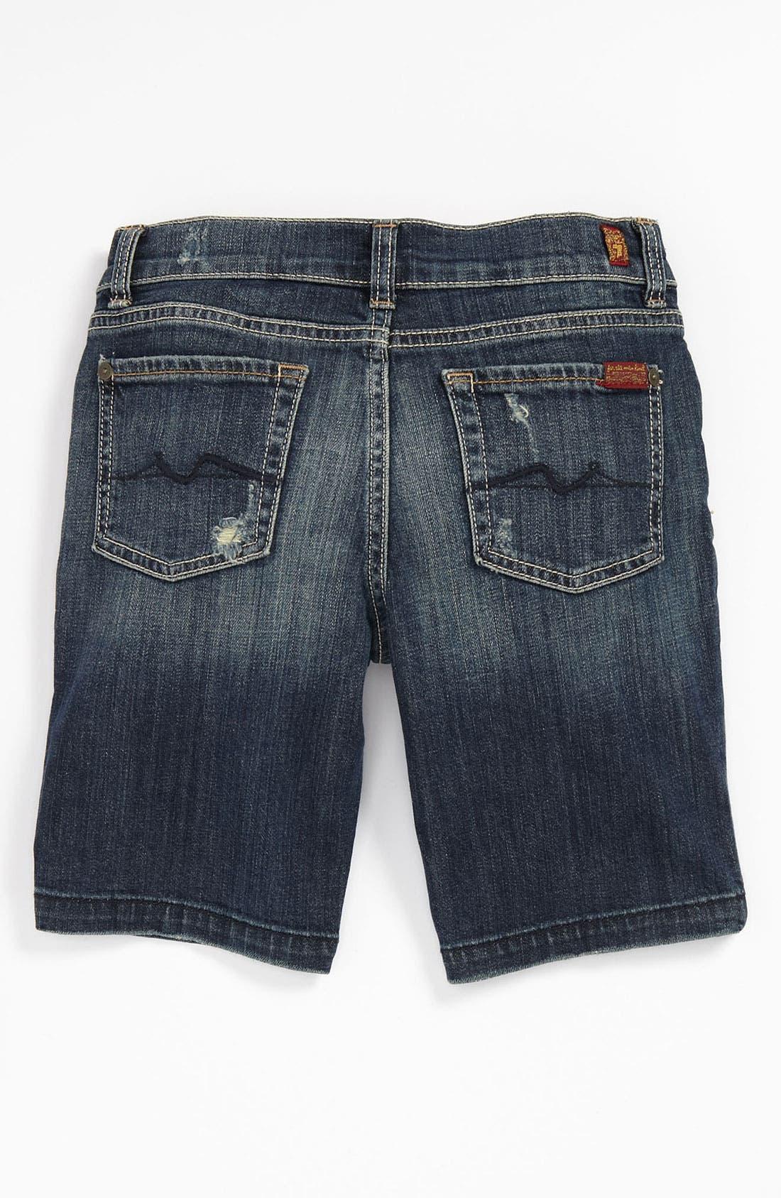 Alternate Image 1 Selected - 7 For All Mankind® 'Del Sol' Bermuda Shorts (Big Girls)