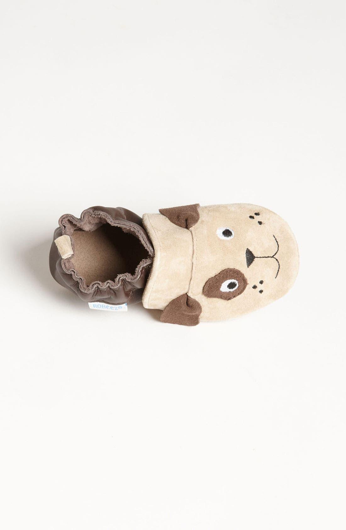 Alternate Image 3  - Robeez® '3D Dog' Crib Shoe (Baby & Walker)
