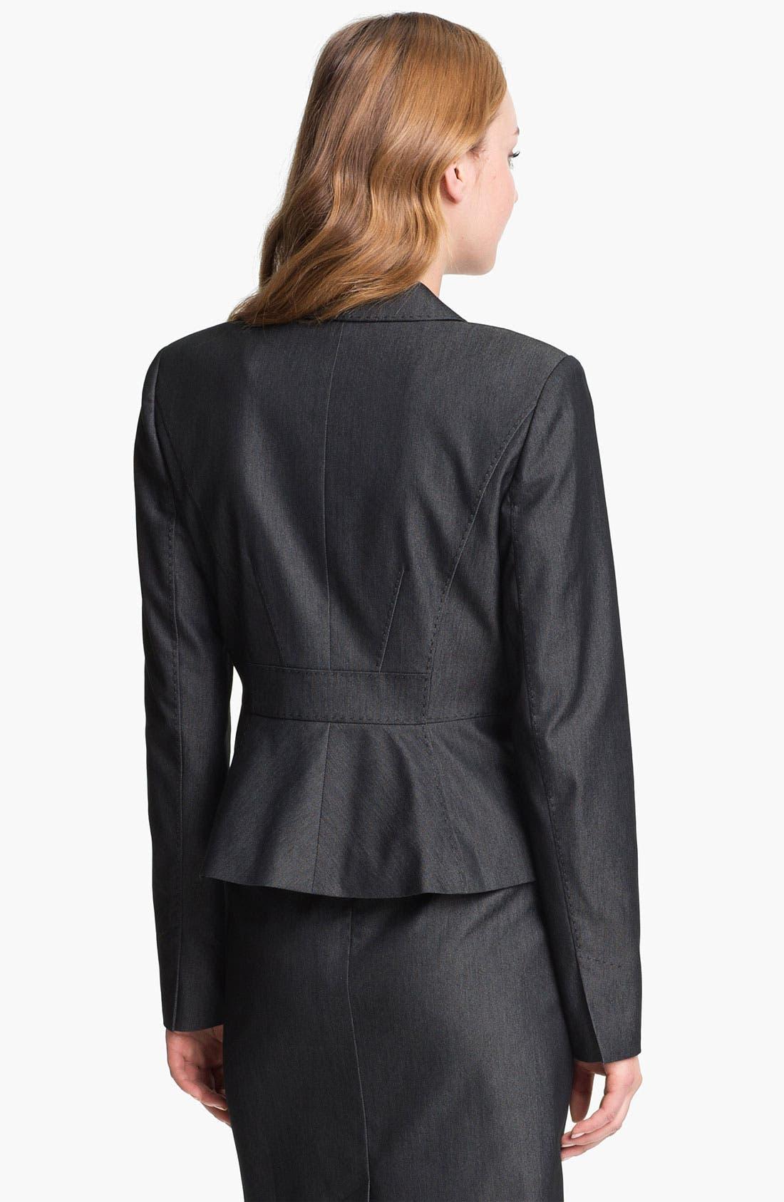 Alternate Image 3  - Halogen® Black Denim Suit Jacket