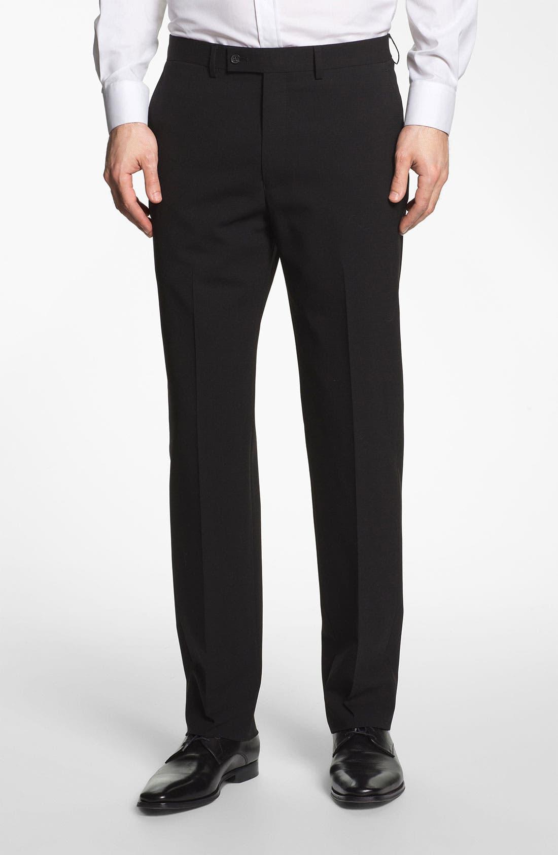 Alternate Image 5  - Michael Kors Trim Fit Stretch Wool Suit