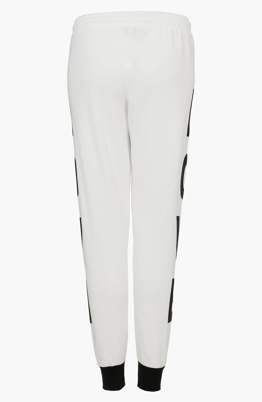 Alternate Image 2  - Topshop 'Love' Graphic Tapered Sweatpants