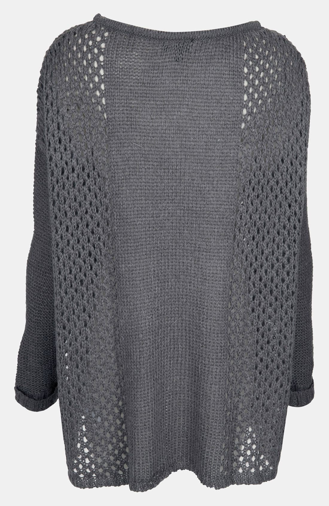 Alternate Image 2  - Topshop 'Rock Girl' Slouchy Mesh Knit Sweater