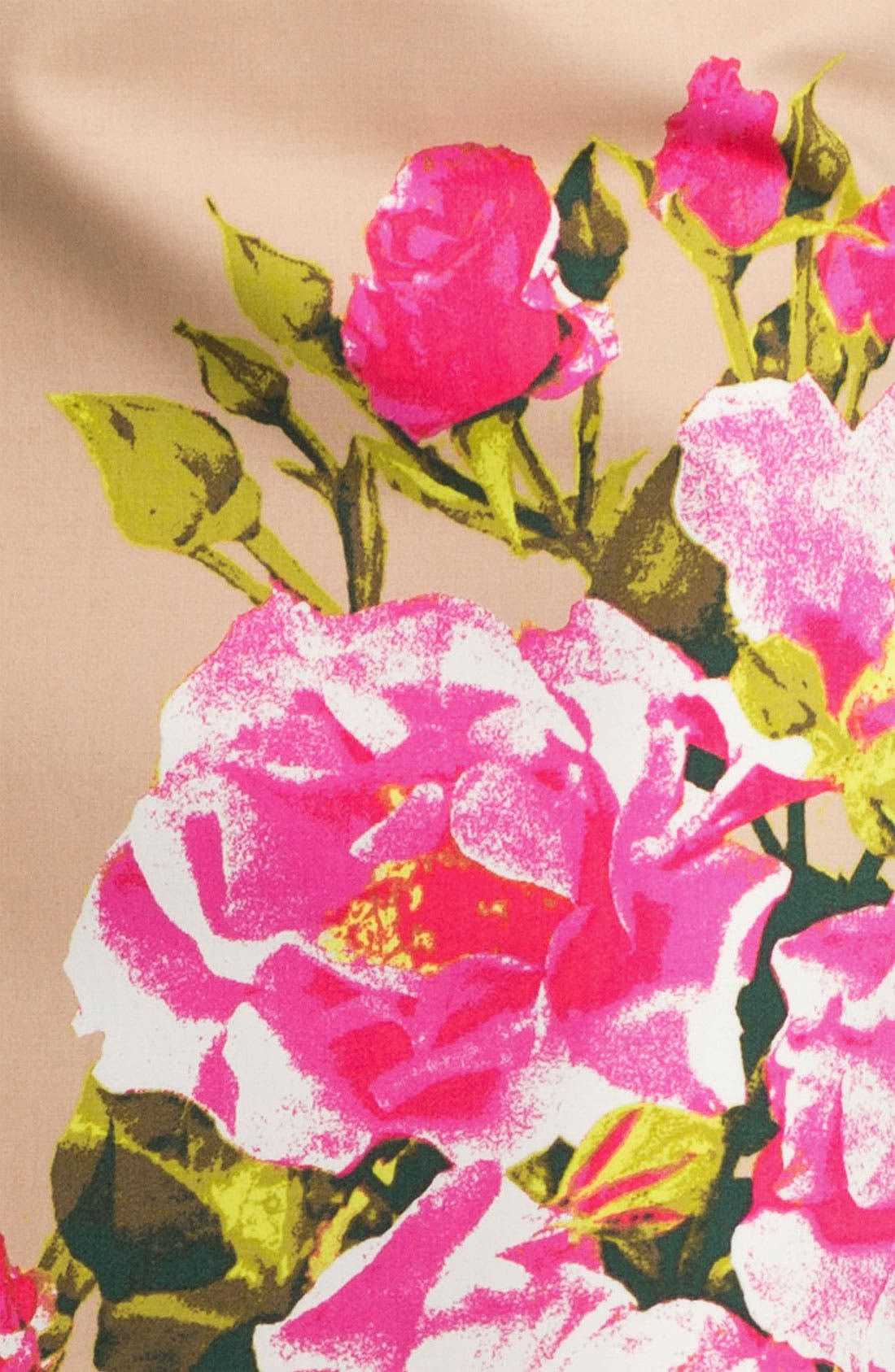 Alternate Image 3  - Halogen® Print Stretch Cotton Blend Skirt