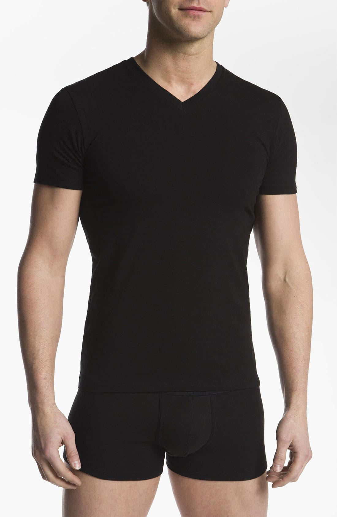Alternate Image 1 Selected - Polo Ralph Lauren Stretch Cotton V-Neck T-Shirt (2-Pack)