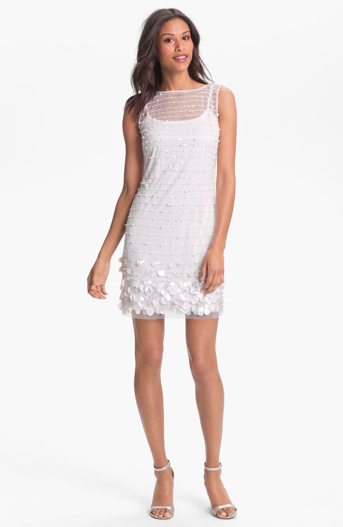 Alternate Image 1 Selected - Aidan Mattox Embellished Tulle Dress