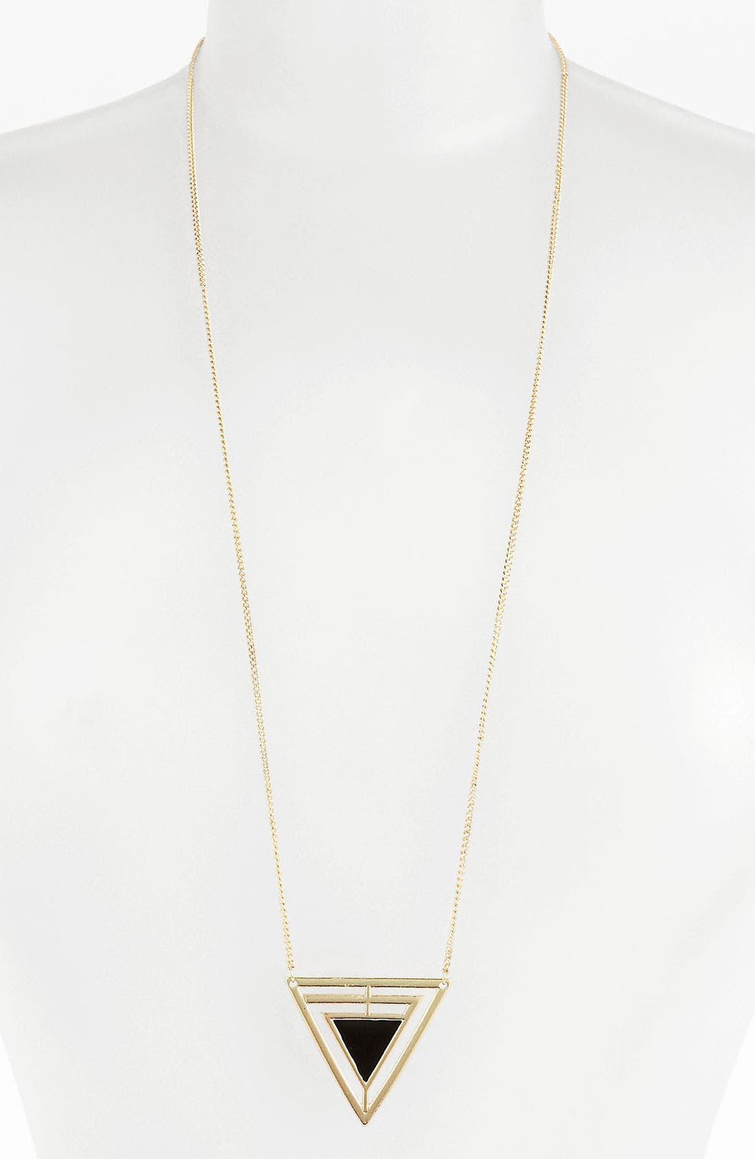 Alternate Image 1 Selected - Orion Art Deco Pendant Necklace