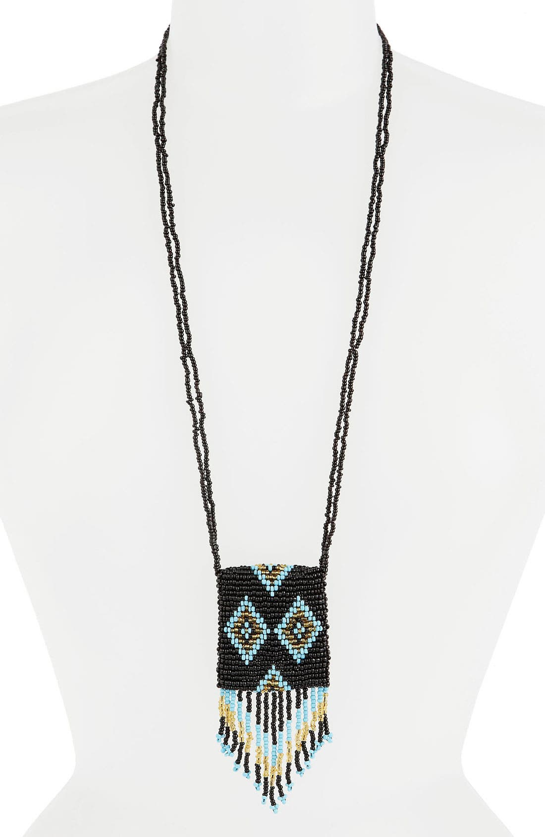 Alternate Image 1 Selected - PK&J Beaded Pouch Necklace (Juniors)