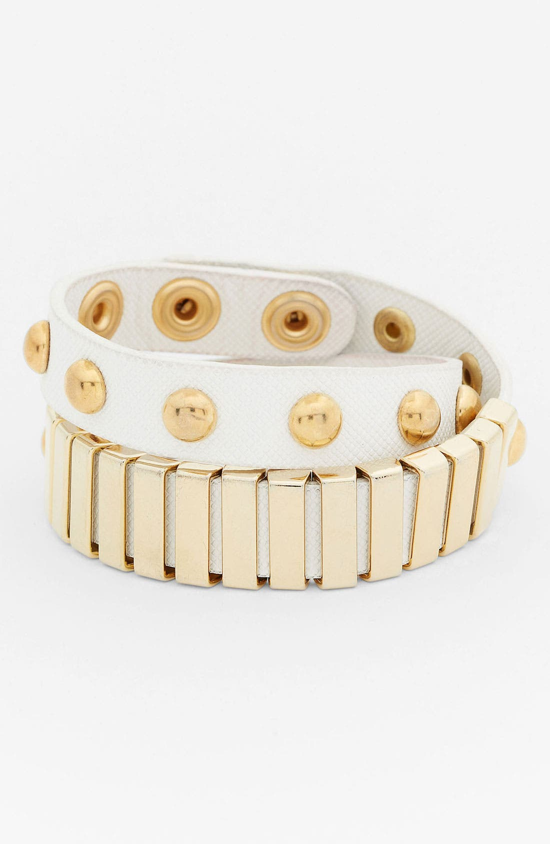 Main Image - BP. Stud & Bar Wrap Bracelet