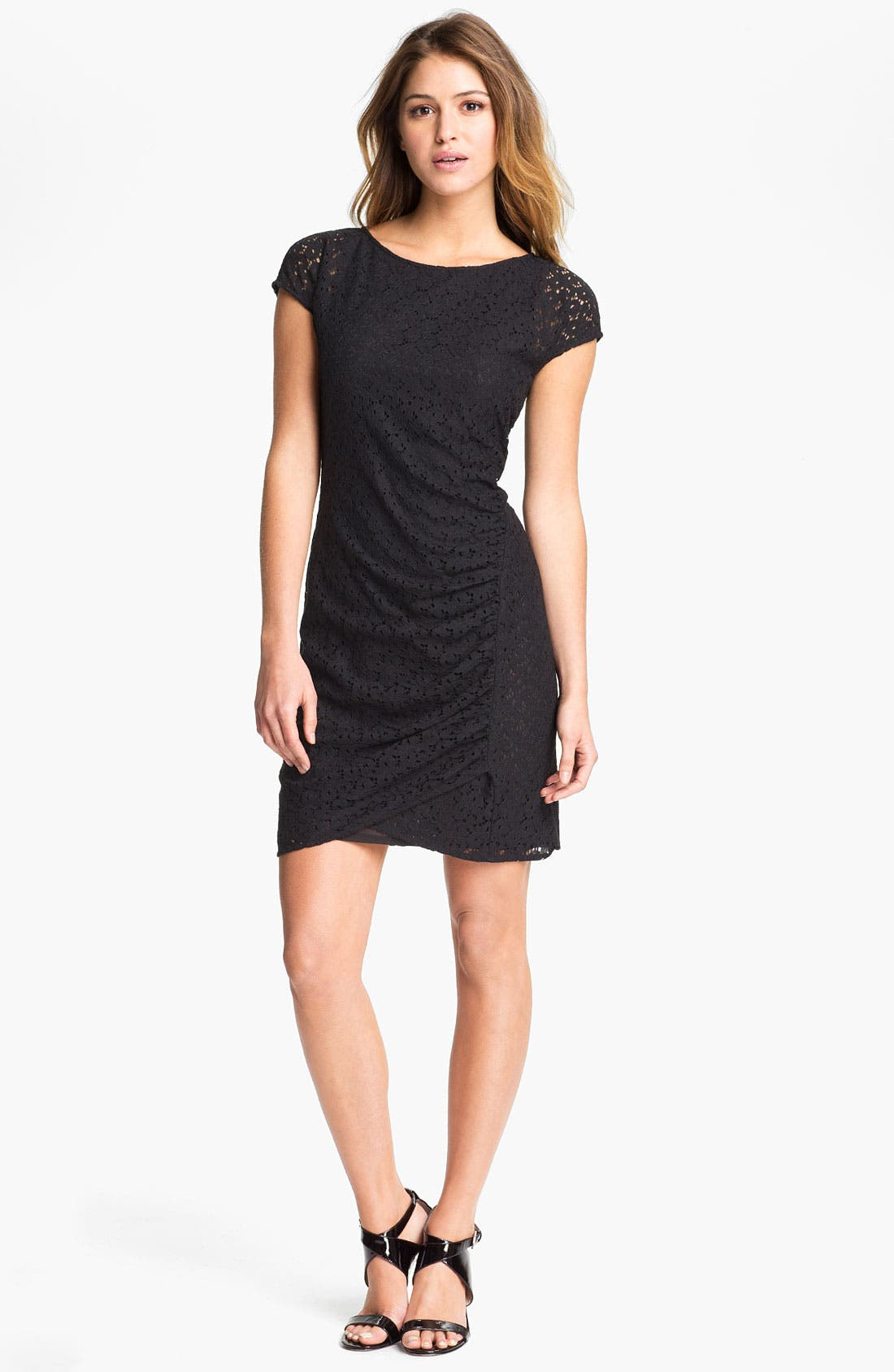 Alternate Image 1 Selected - DKNYC Cap Sleeve Lace Dress