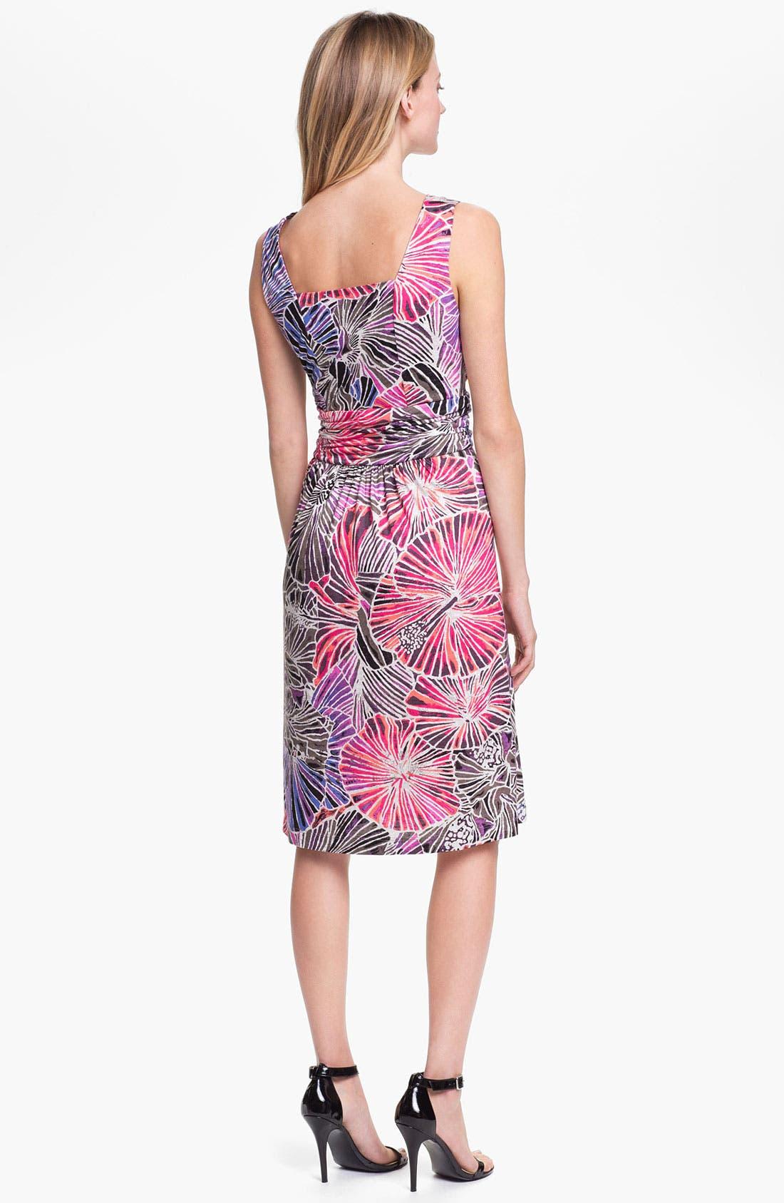 Alternate Image 2  - Nic + Zoe Sleeveless Surplice V-Neck Print Dress