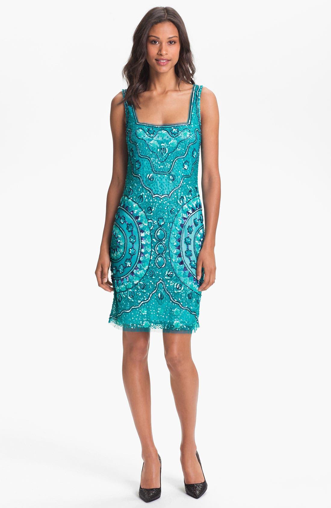 Alternate Image 1  - Aidan Mattox Sleeveless Sequin Tulle Dress