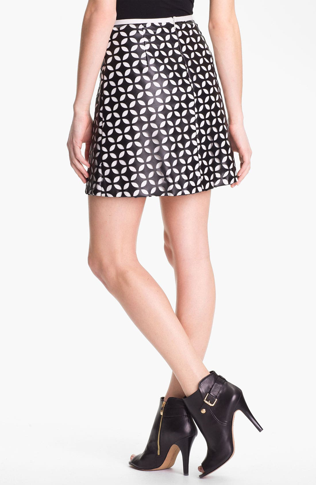Alternate Image 2  - Vince Camuto Mod Cutout Faux Leather Skirt