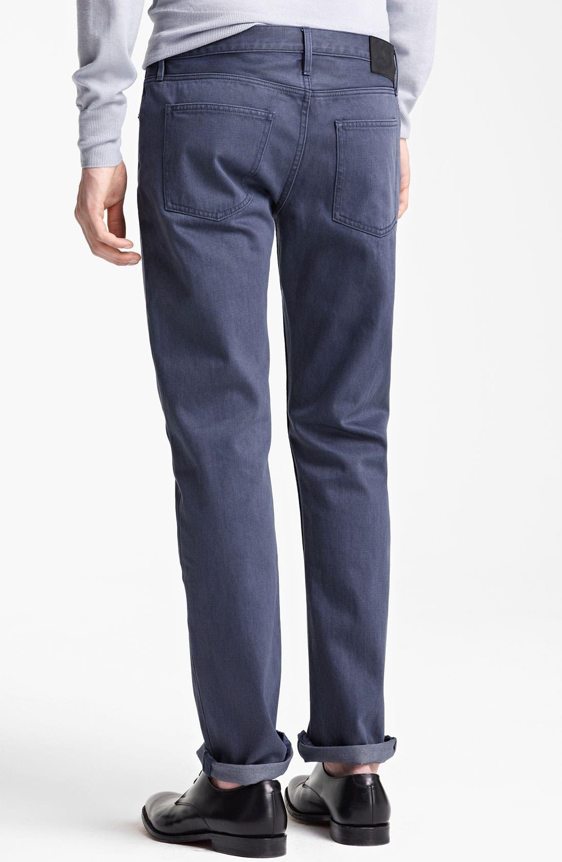 Alternate Image 2  - Burberry London Straight Leg Jeans (Indigo)