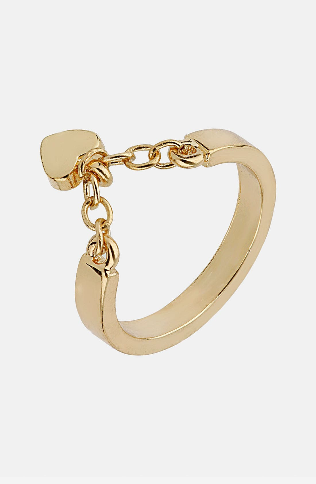 Alternate Image 1 Selected - Topshop 'Heart Chain' Ring