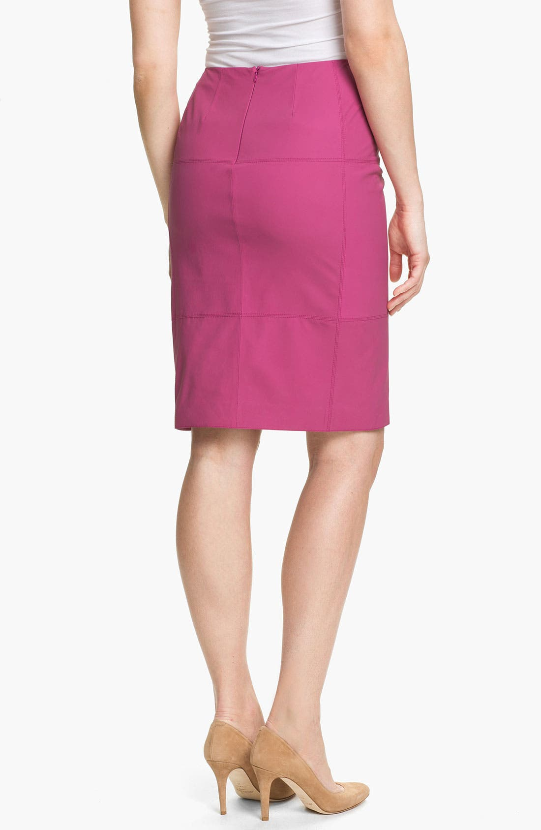 Alternate Image 2  - Lafayette 148 New York Slim Lambskin Skirt