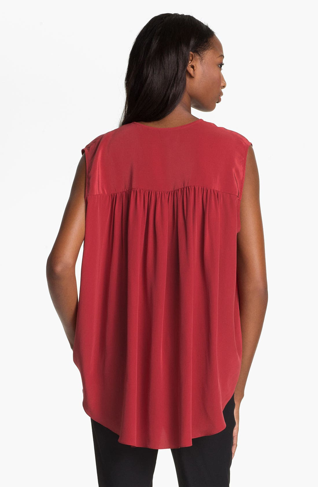 Alternate Image 4  - Tracy Reese Zip Front Silk Blouse