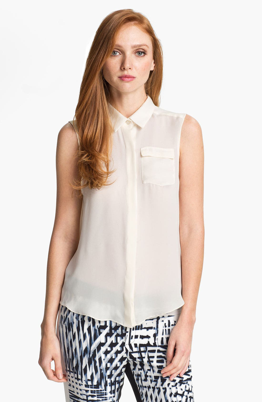 Main Image - Parker 'Chip' Silk Top