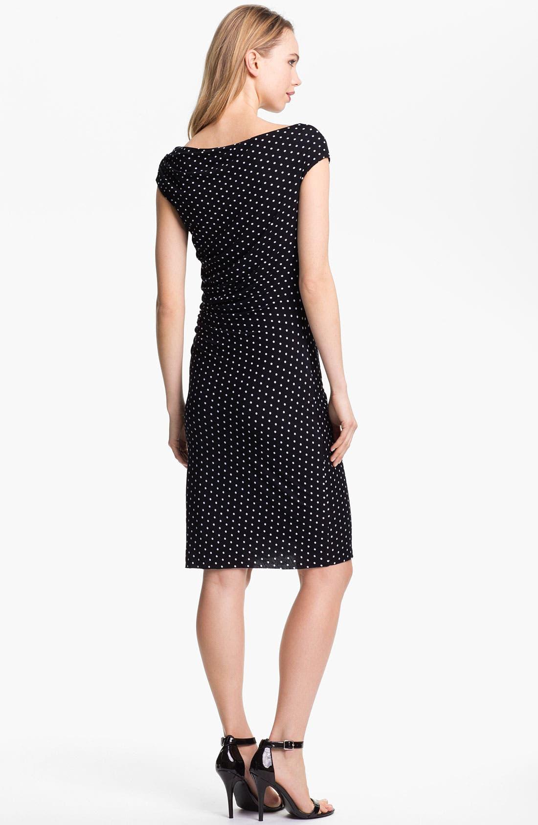 Alternate Image 2  - Vince Camuto Dot Print Ruched Dress