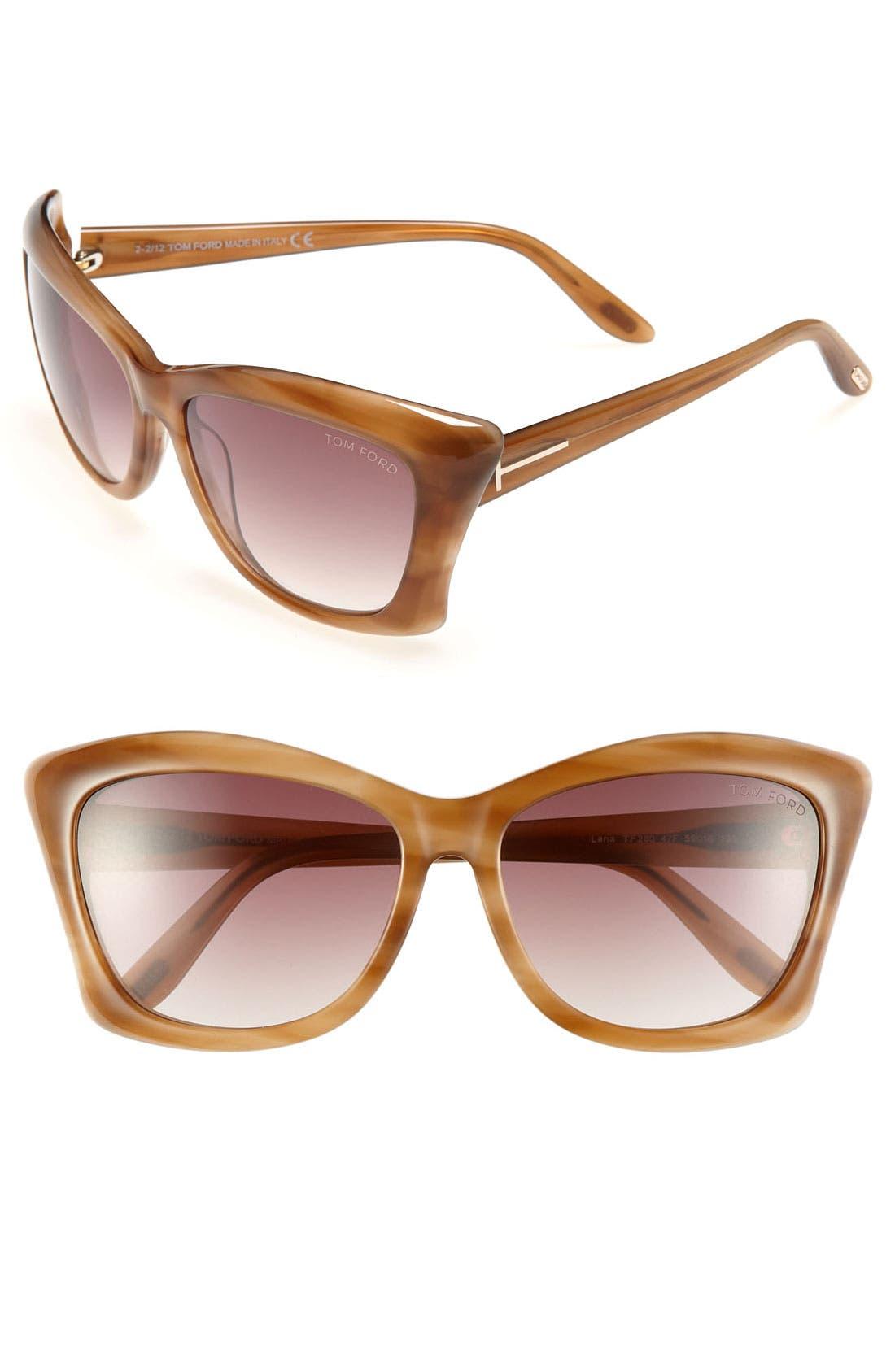 Main Image - Tom Ford 'Lana' 59mm Sunglasses