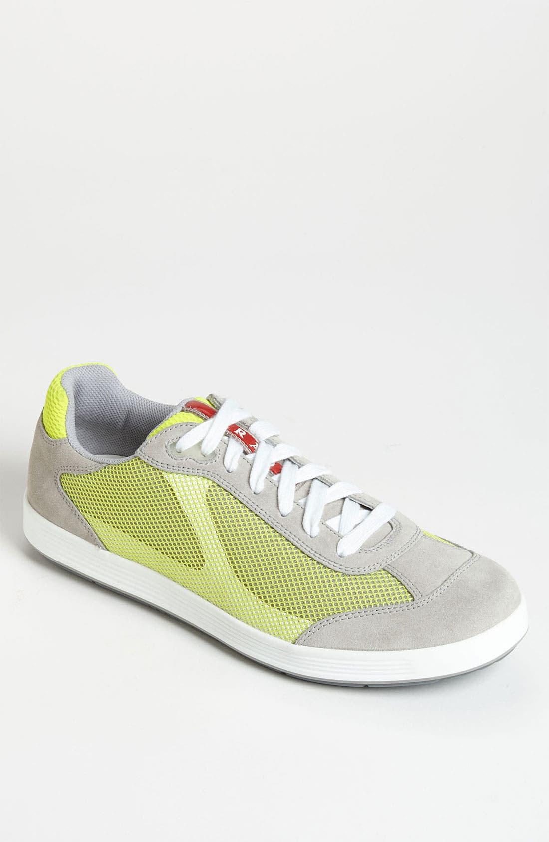 Alternate Image 1 Selected - Prada Colored Mesh Sneaker