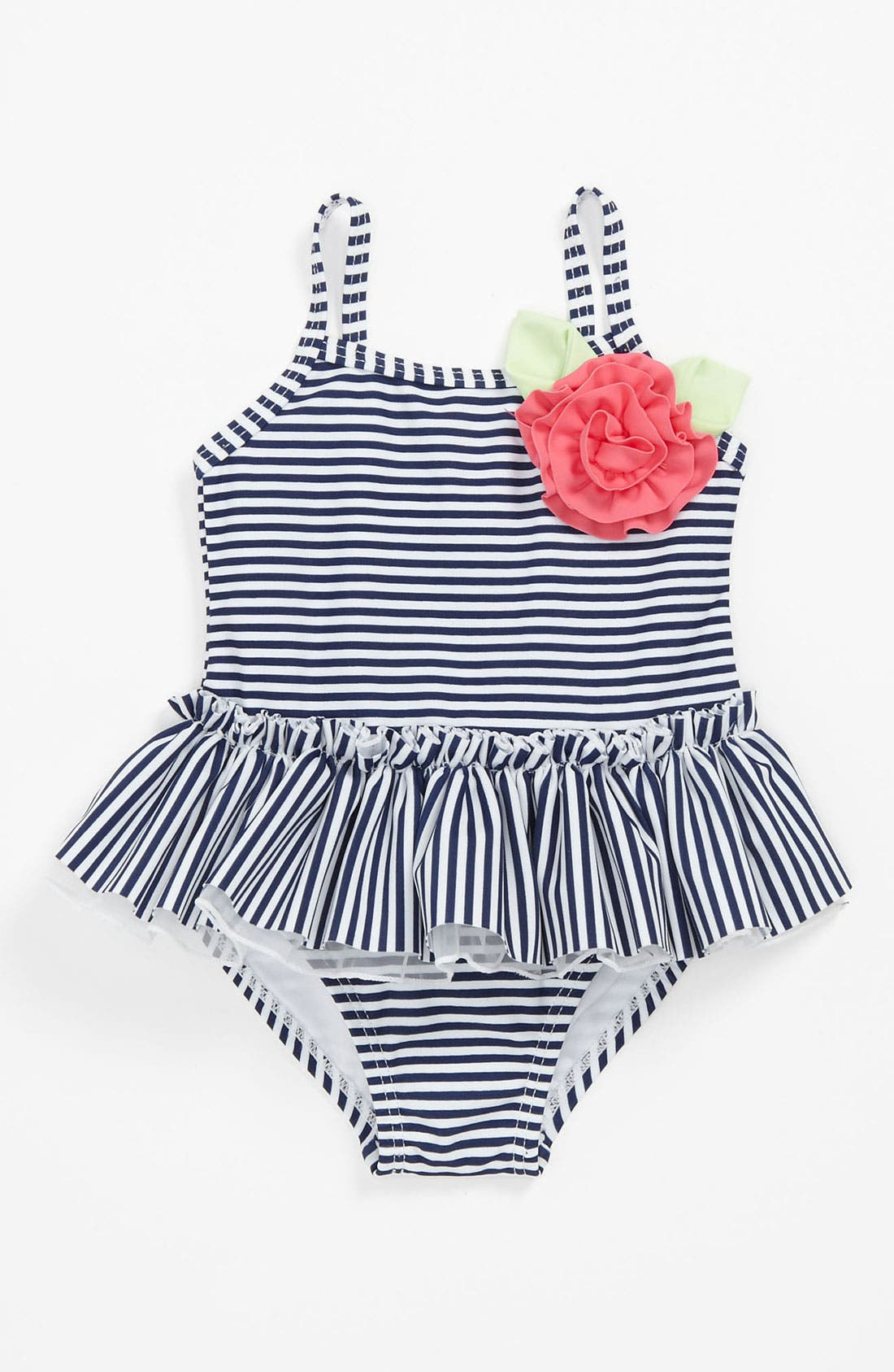 Main Image - Little Me Stripe One Piece Swimsuit (Baby)