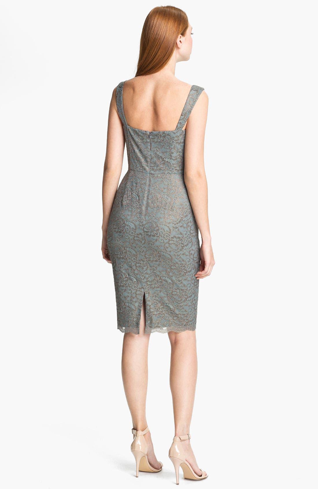 Alternate Image 2  - Adrianna Papell Metallic Lace Sheath Dress