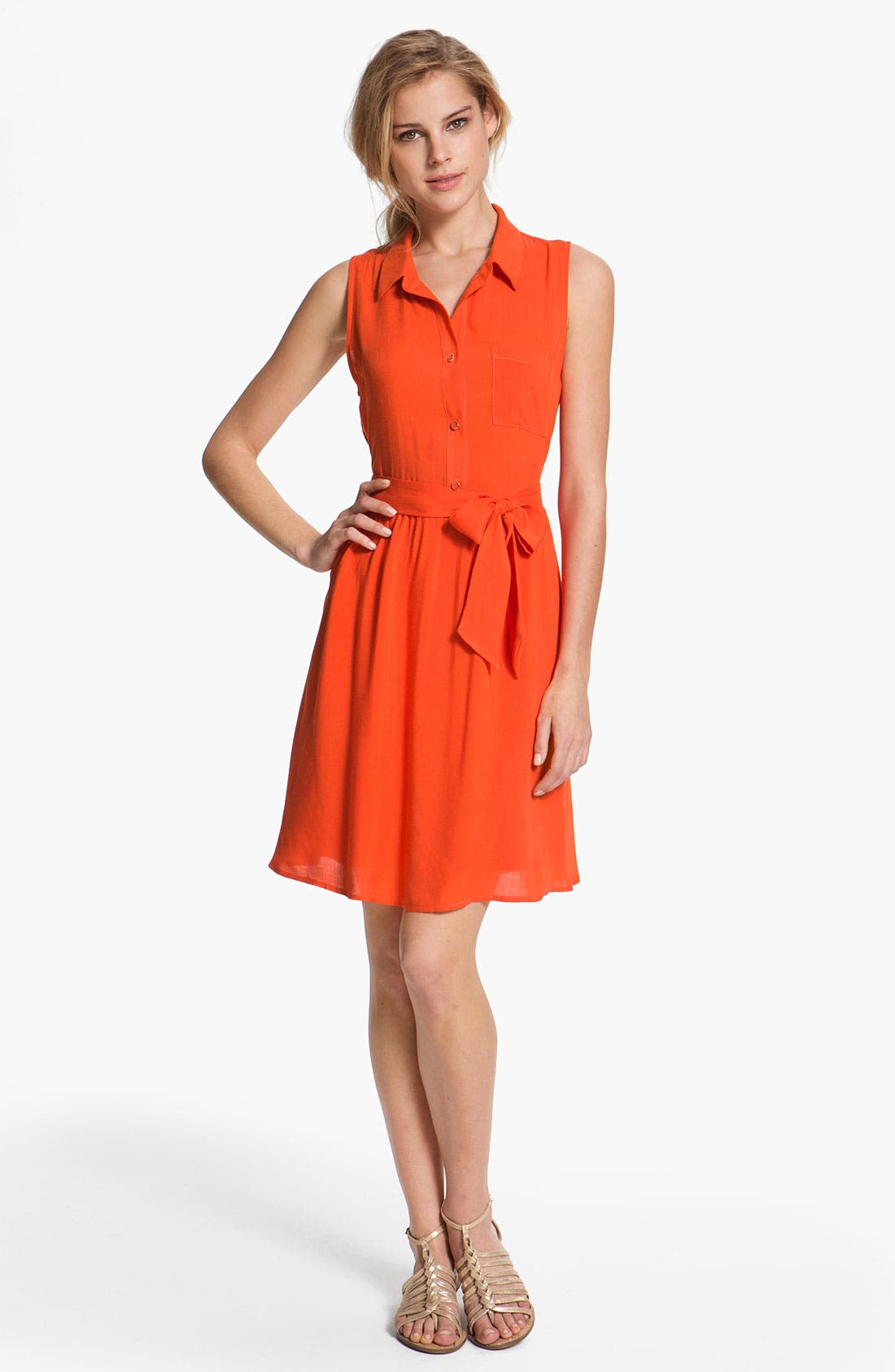 Alternate Image 1 Selected - MOD.lusive Tie Front Shirtdress