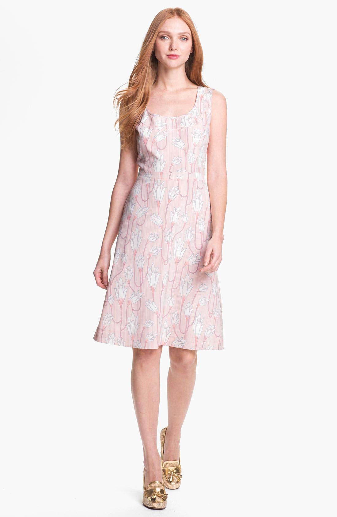 Main Image - Tory Burch 'Jena' Stretch Silk A-Line Dress