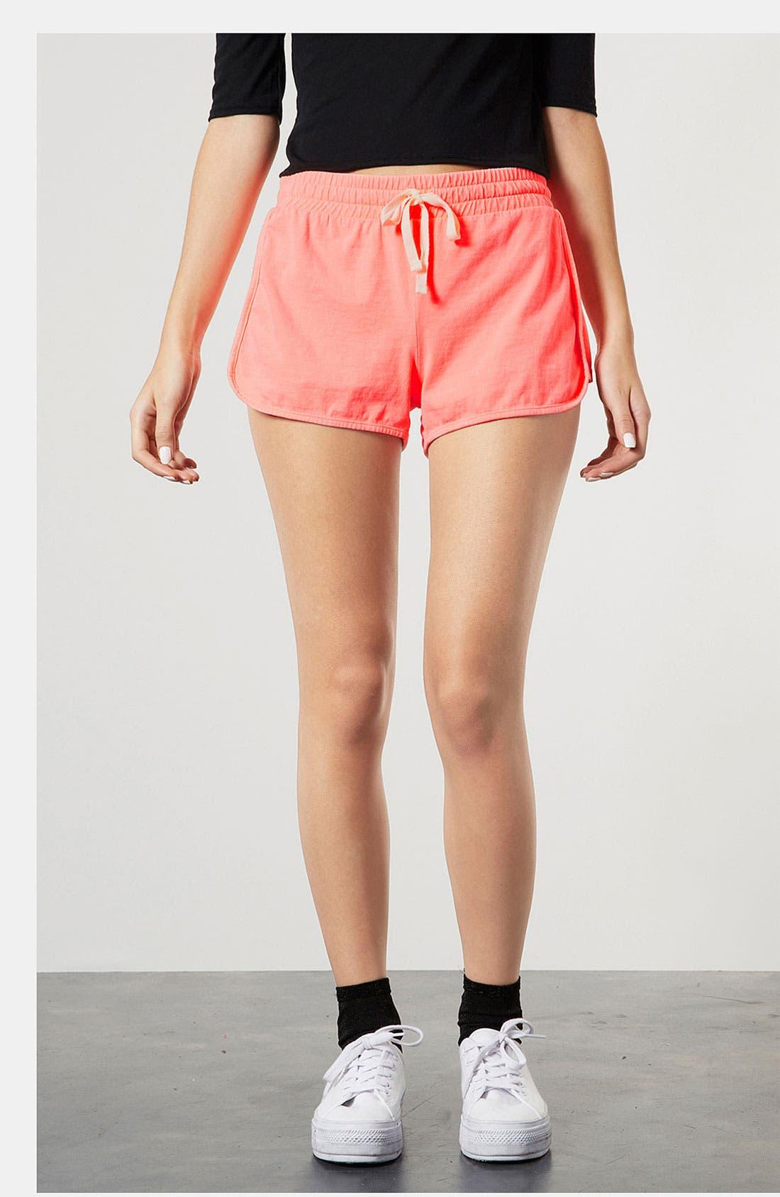 Main Image - Topshop Neon Running Shorts