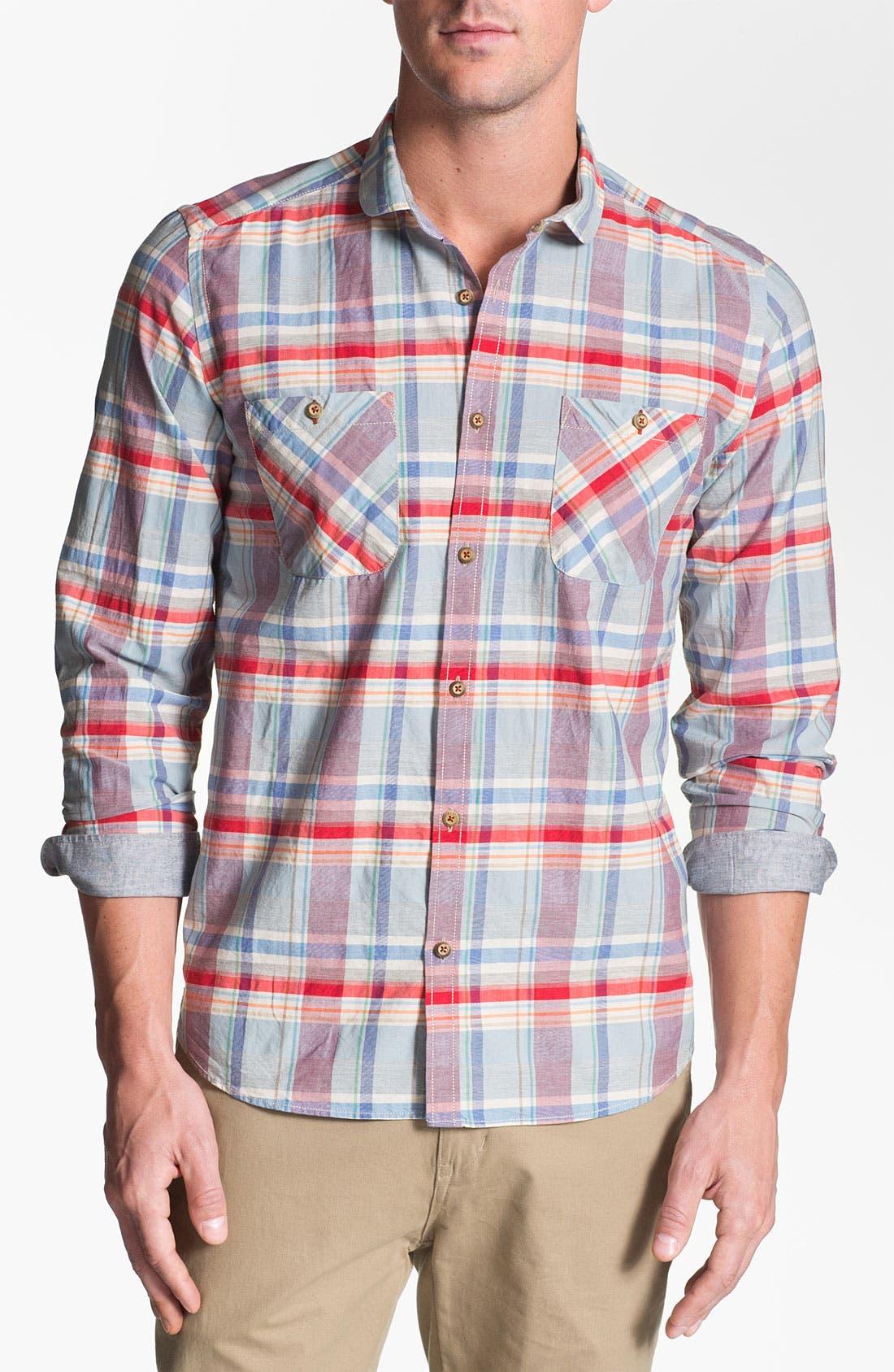 Alternate Image 1 Selected - Ted Baker London 'Bigage' Trim Fit Sport Shirt