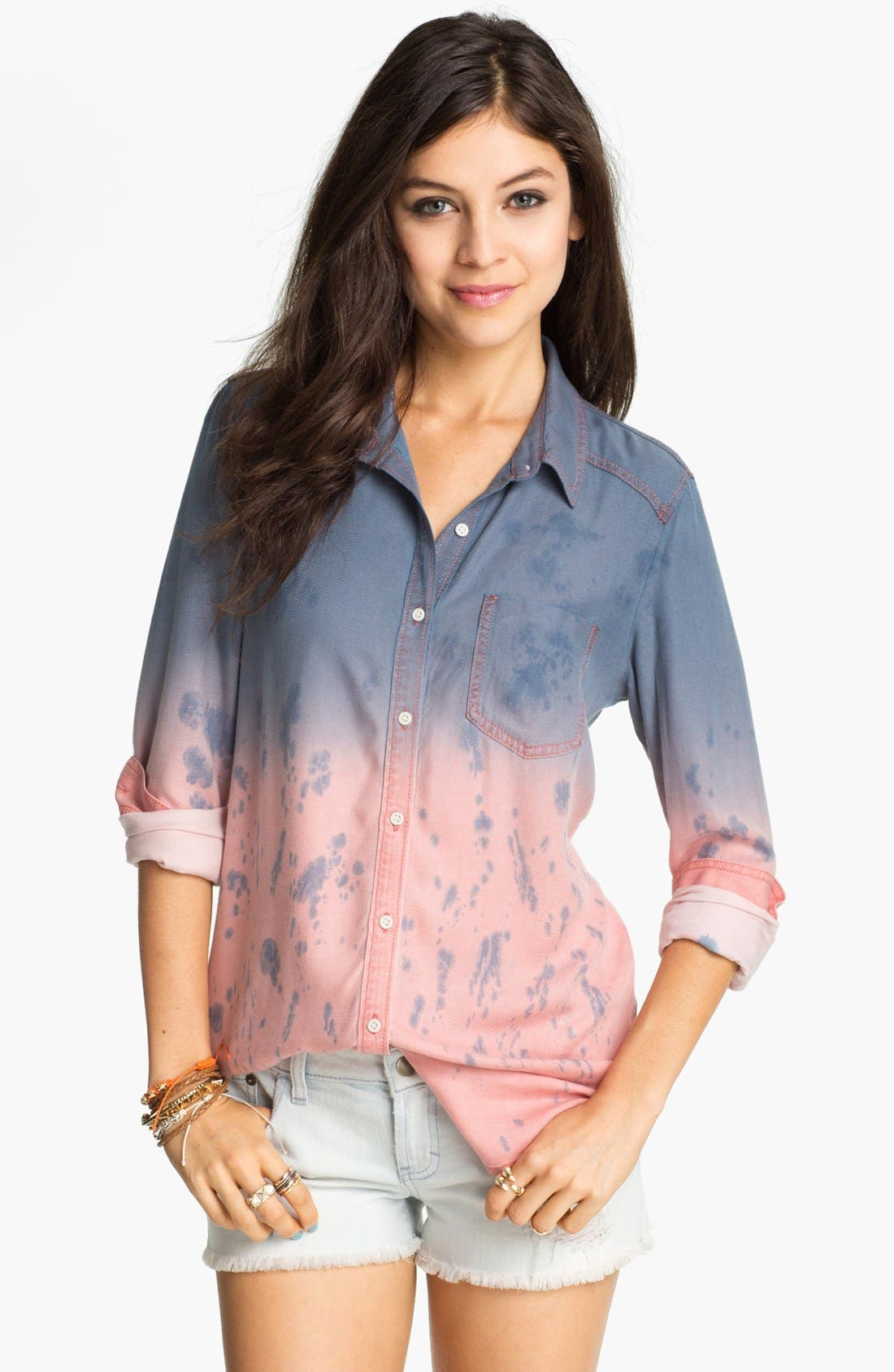 Main Image - Rubbish Dip Dye Menswear Shirt (Juniors)