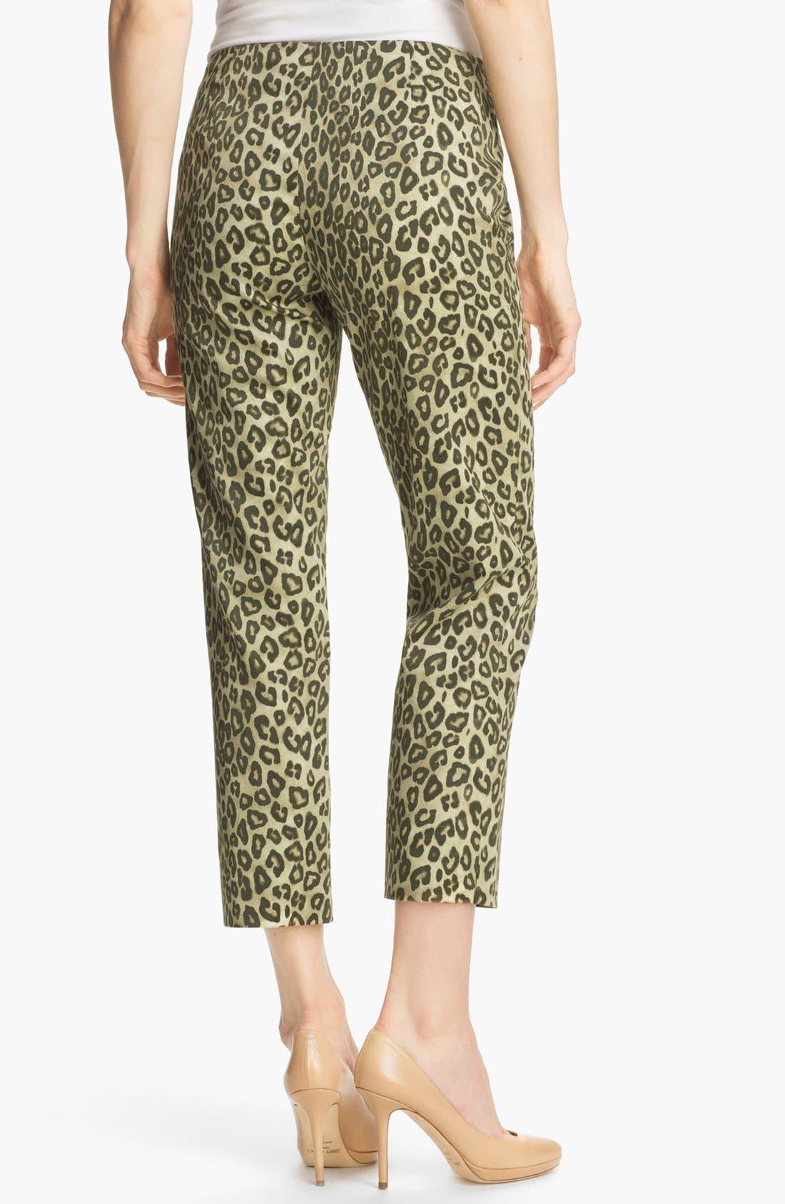 Alternate Image 2  - Lafayette 148 New York 'Bleecker - Senegal Cheetah' Crop Pants