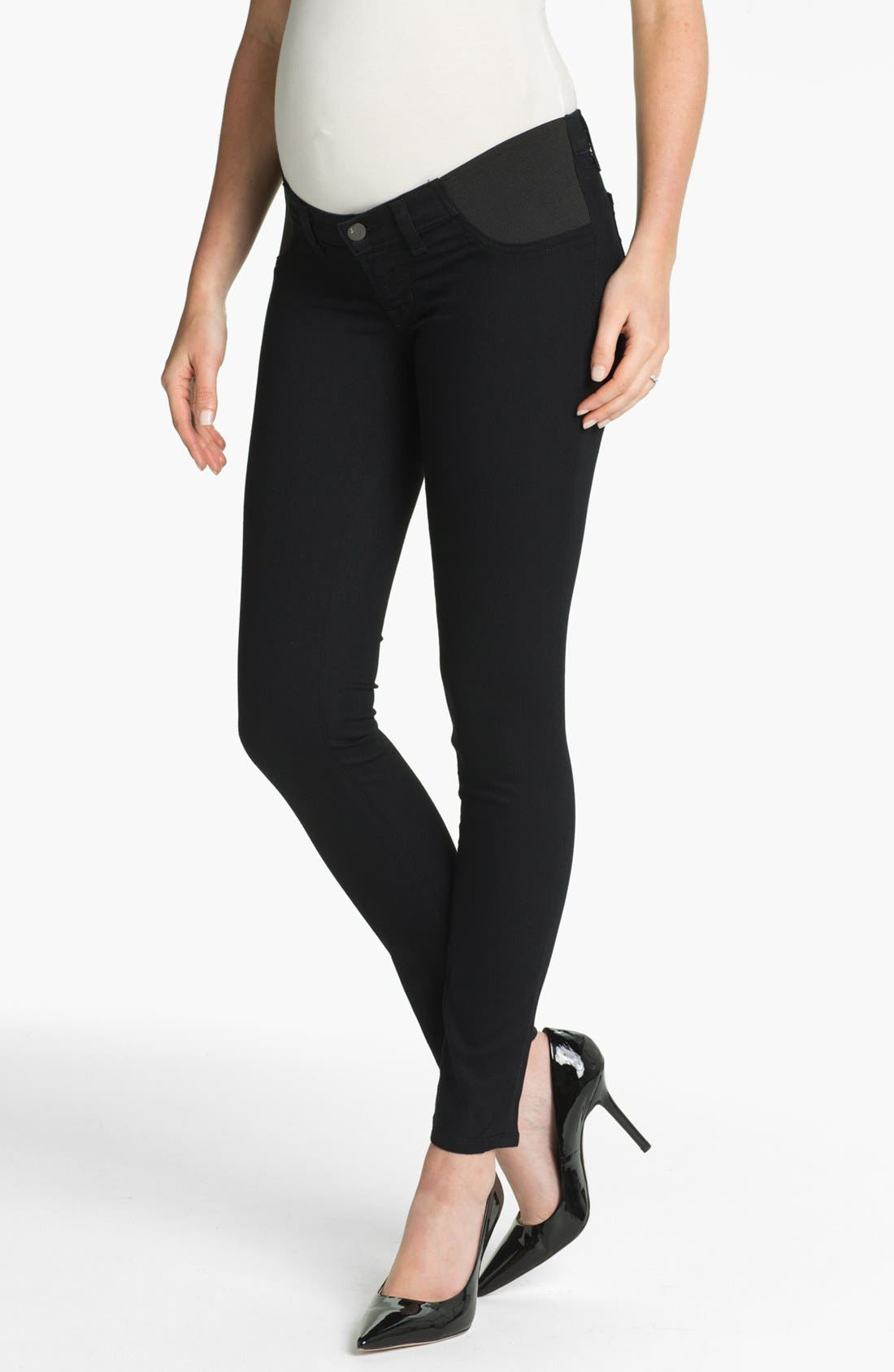 Alternate Image 1 Selected - J Brand Denim Maternity Leggings (Pitch)