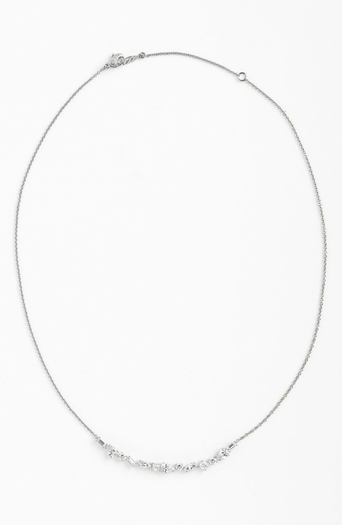 Main Image - Nadri Mixed Cut Crescent Necklace (Nordstrom Exclusive)