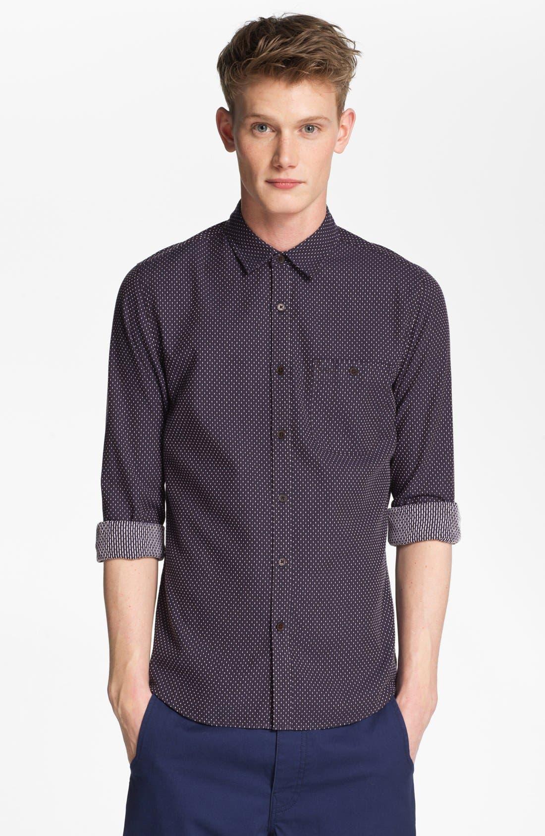 Main Image - Topman Dot Woven Shirt