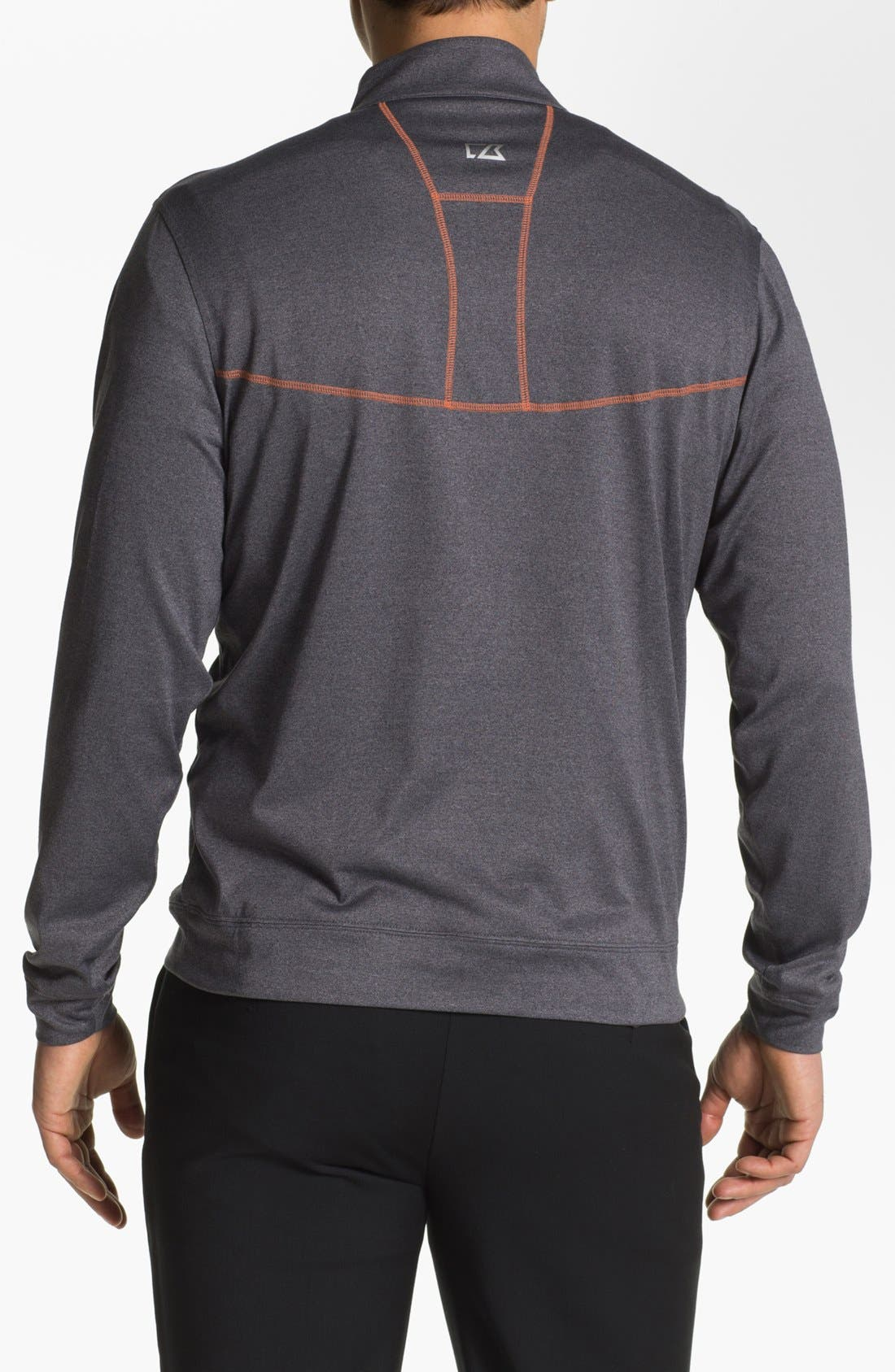 Alternate Image 2  - Cutter & Buck 'Front Nines' DryTec Quarter Zip Fleece