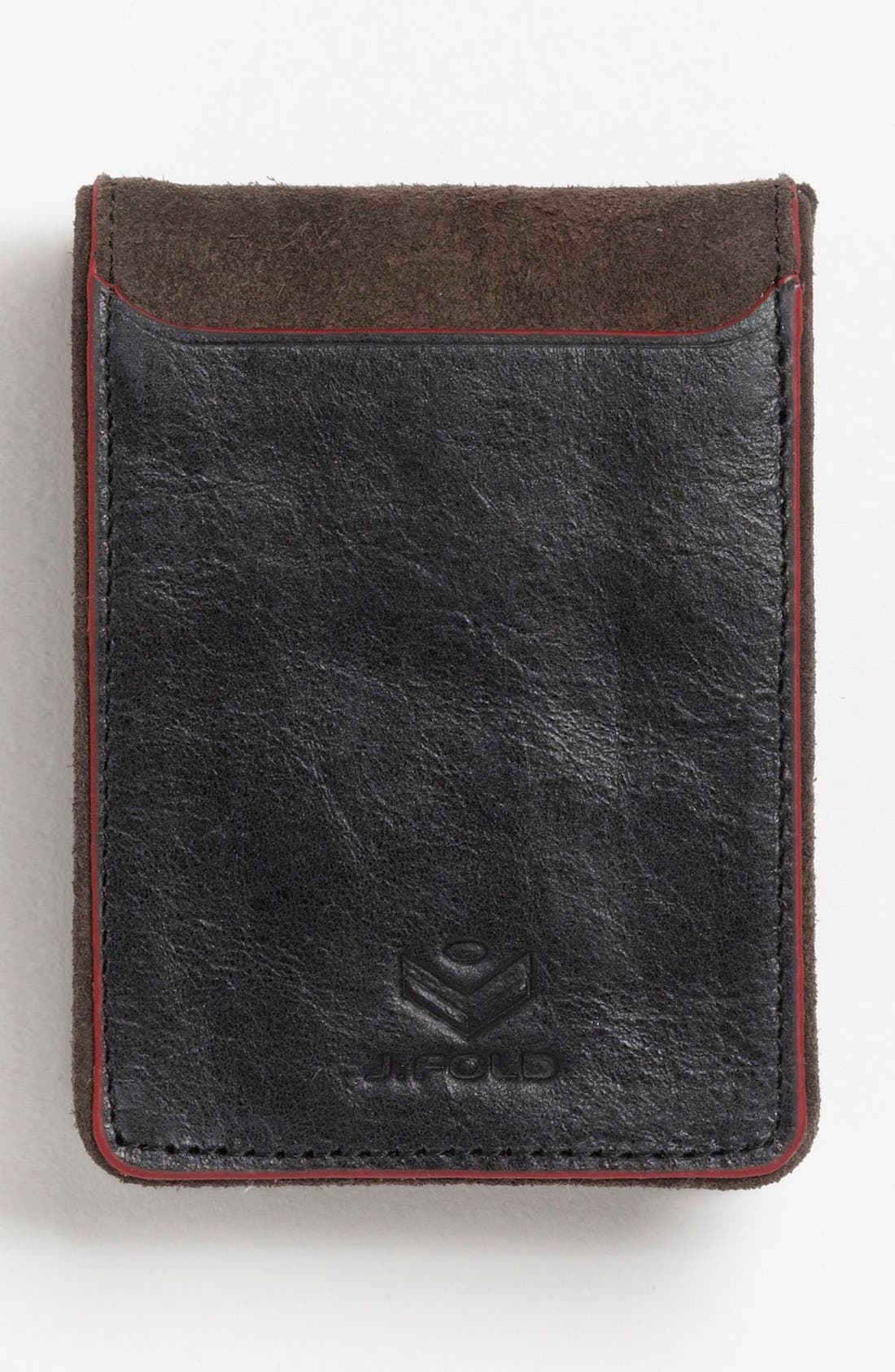 Alternate Image 2  - J Fold 'Smokestack' Folding Card Holder