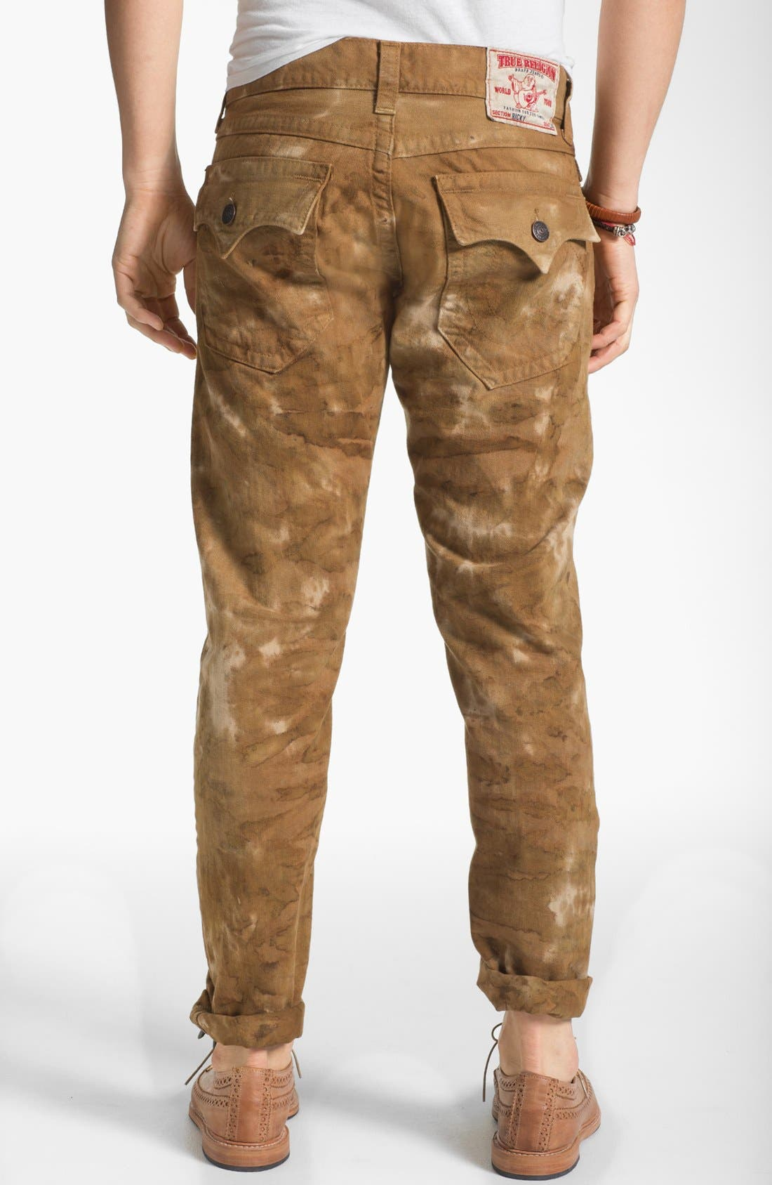 Alternate Image 1 Selected - True Religion Brand Jeans 'Ricky' Straight Leg Jeans (Desert Sand)