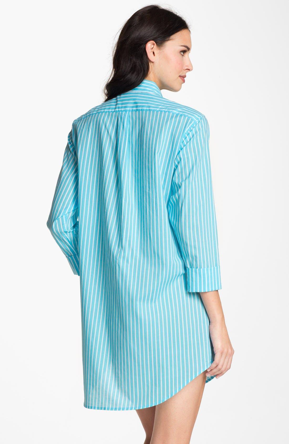 Alternate Image 2  - Lauren Ralph Lauren Cuffed Nightshirt