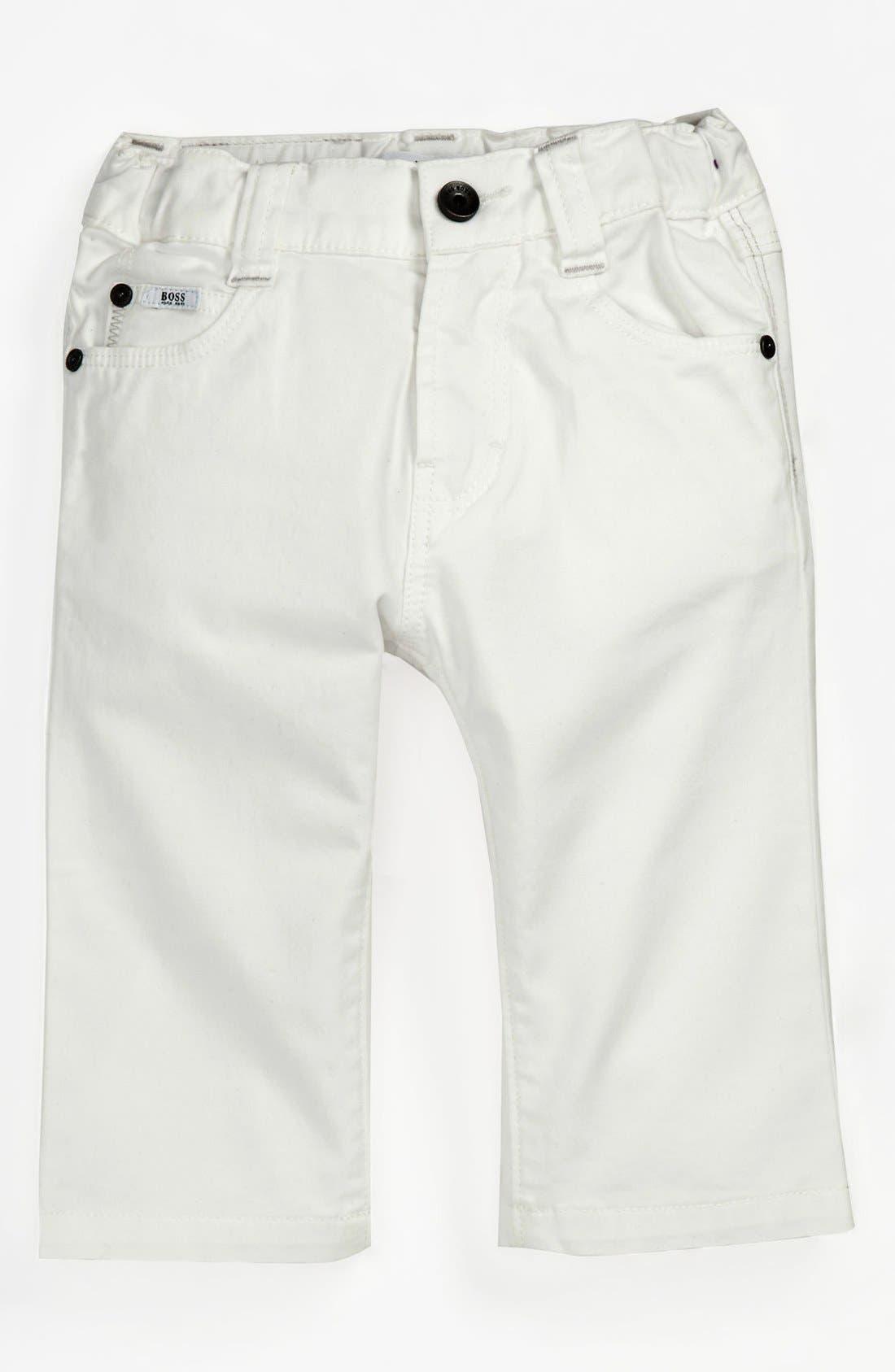 Alternate Image 1 Selected - BOSS Kidswear Twill Pants (Baby)