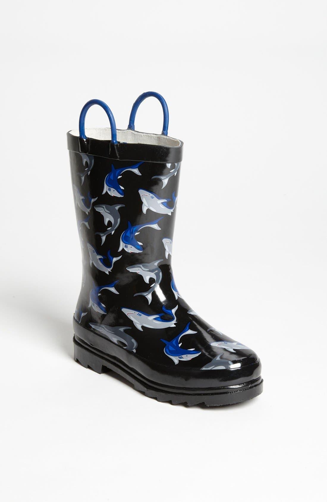 Alternate Image 1 Selected - Western Chief 'Shark City' Rain Boot (Toddler & Little Kid)