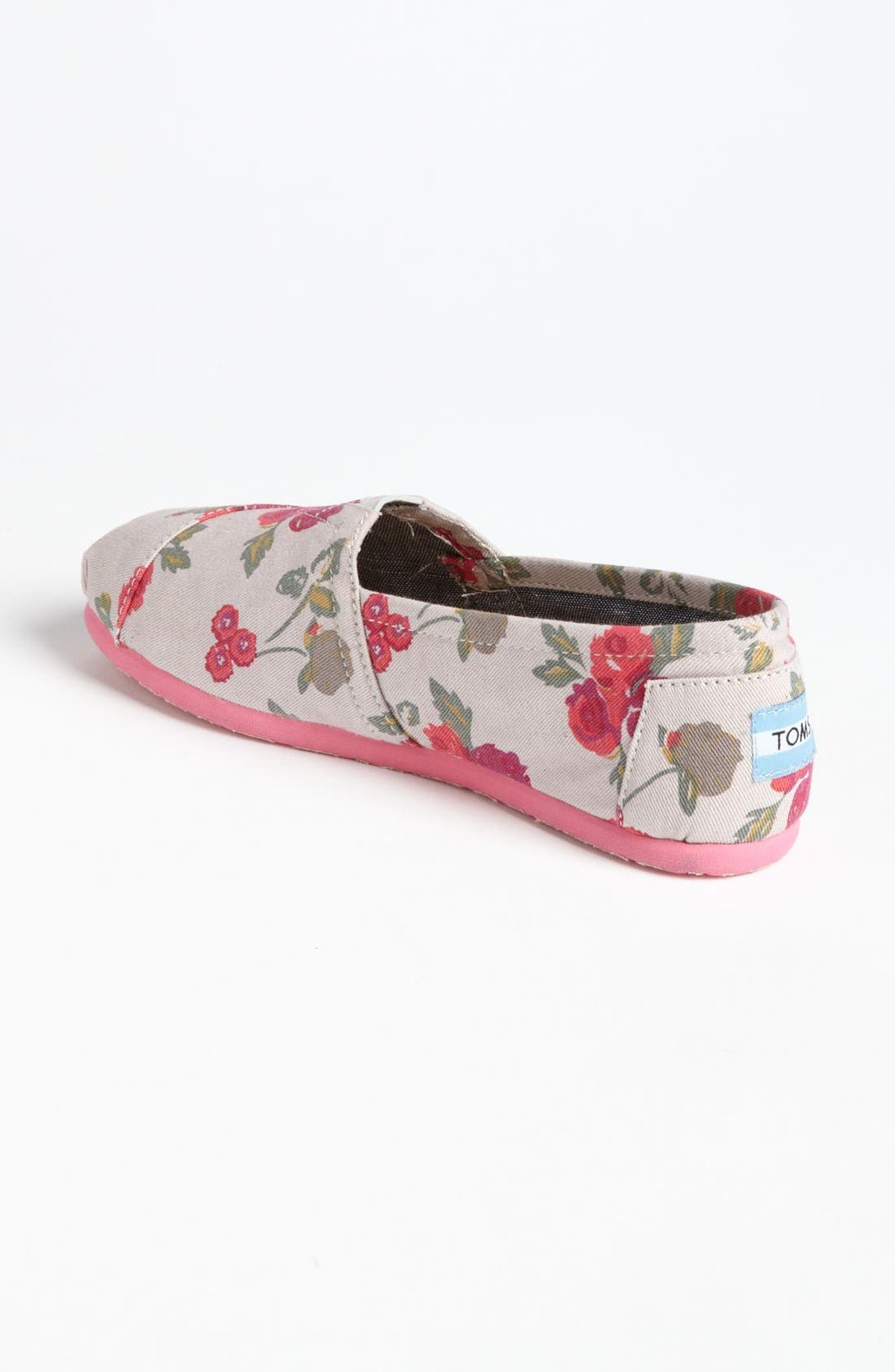 Alternate Image 2  - TOMS 'Classic - Floral' Slip-On (Women)