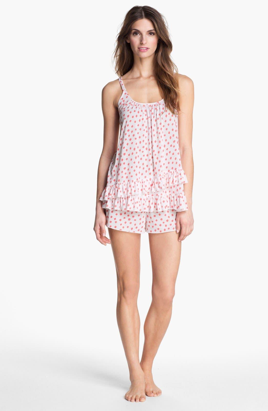 Main Image - Oscar de la Renta Sleepwear Ruffle Pajamas