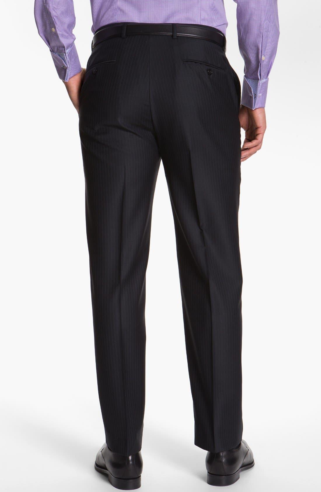 Alternate Image 5  - Hart Schaffner Marx Stripe Wool Suit (Big)