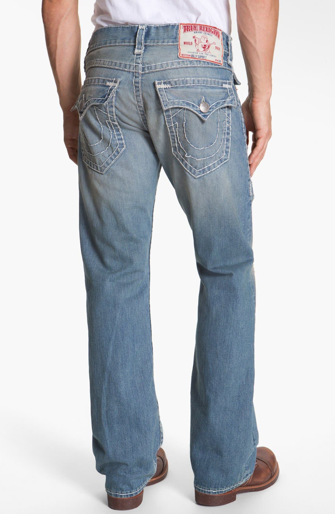 Alternate Image 1 Selected - True Religion Brand Jeans 'Billy - Natural Super-T' Bootcut Jeans (Wicket)